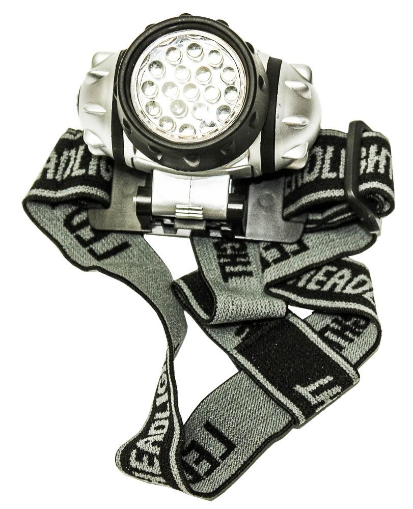 Фонарь налобный Boyscout, 19 светодиодовKOC-H19-LEDПреимущество фонаря Boyscout заключается в том, что при его использовании у Вас всегда остаются свободными руки: во время велосипедных прогулок, чтения книг, ремонта в гараже, походов и рыбалки. Налобный фонарик может применятся в четырех режимах: минимальная яркость (горит 1 светодиод), средняя яркость (горят 7 светодиодов), максимальная яркость (горят 19 светодиодов). Так же присутствует сигнальный режим - моргают 19 светодиодов.