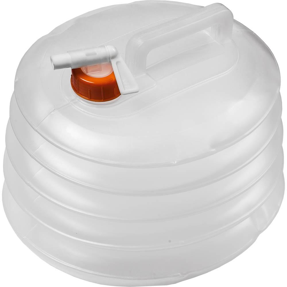 Канистра для воды Boyscout, складная, 8 л2615S545JBСкладная канистра Boyscout на 8 литров, изготовленная из очень прочного пищевого полиэтилена, несомненно, пригодится вам во время путешествия. В сложенном виде канистра занимает очень мало места. Заполняется канистра с помощью откручивающегося вентиля, на крышке имеется специальный кран-клапан, делающий подачу воды максимально удобной. Канистра оснащена крепкой ручкой.Размер канистры в сложенном виде: 26 см х 23 см х 3 см.