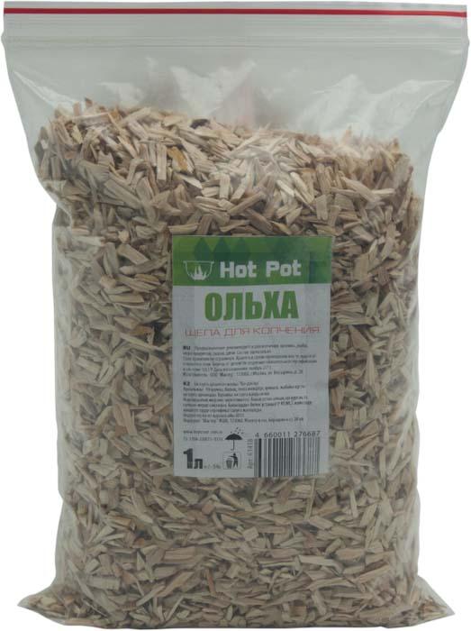 Щепа для копчения Hot Pot Ольха, 1 л391602Щепа Hot Pot Ольха используется для копчения кролика, рыбы, морепродуктов, сыров и дичи.