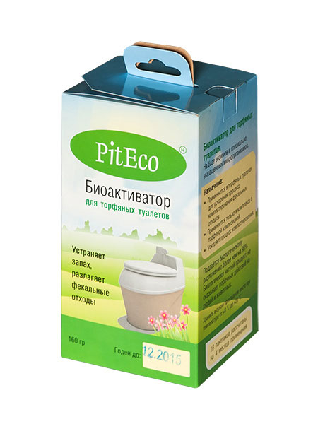Биоактиватор для торфяных туалетов PitEco, 160 г391602Биоактиватор PitEco применяется в торфяных туалетах для ускорения процесса компостирования фекальных отходов. Применяется только в комплексе с торфяной композицией. Ускоряет процесс компостирования. Поддается биологическому разложению более чем на 98%.Является биологически чистым продуктом, не оказывает побочных действий на людей и животных.Состав: смесь специально выращенных микроорганизмов и энзимов, органический наполнитель.Вес: 160 г.Количество пакетиков в упаковке: 16 шт.