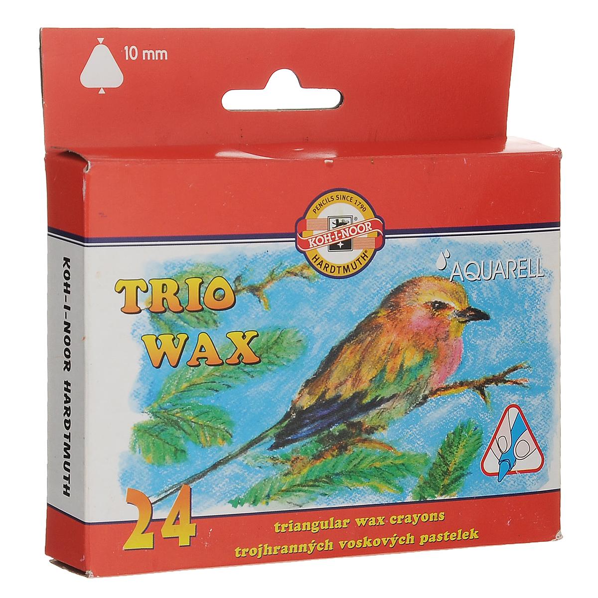 Пастель восковая Koh-i-Noor Trio Wax, трехгранная, 24 цвета8254/24Восковая пастель Koh-i-Noor Trio Wax представляет собой восковые карандаши. Основу замеса восковой пастели составляют воск высшего качества и пигменты. Предназначена пастель для детского творчества. Изделия не содержат токсичных материалов и безопасны для здоровья. Пастель выполнена в удобной трехгранной форме. Количество цветов: 24. Длина пастели: 9 см. Размер: 1 см х 1 см.