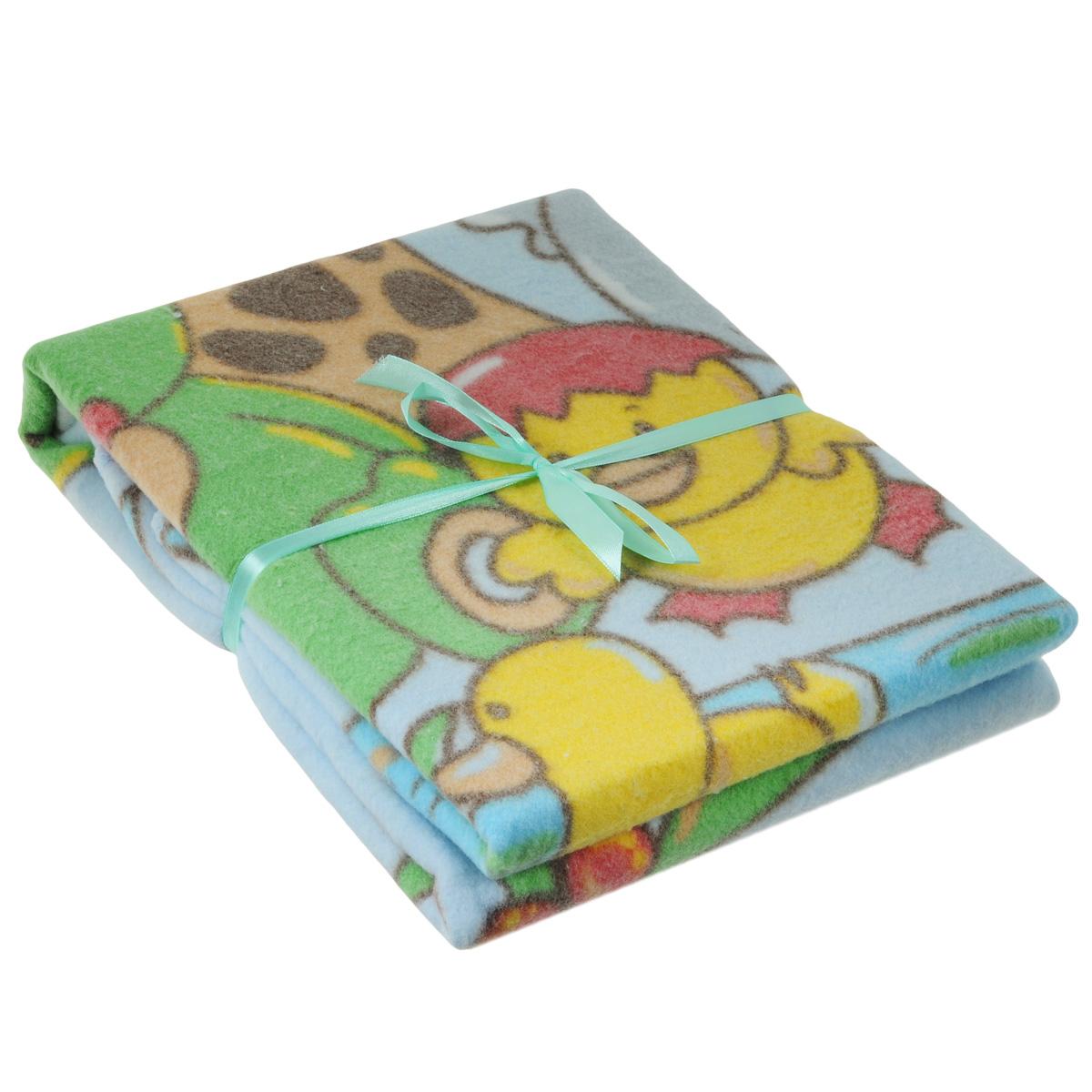 Одеяло детское Baby Nice У озера, байковое, цвет: голубой, 85 см x 115 смD111511