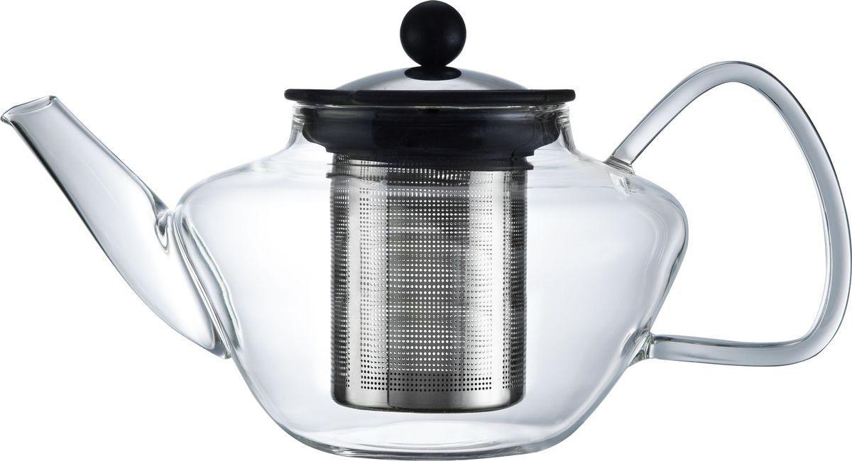 Чайник заварочный Walmer Lord, с фильтром, 600 мл68/5/4Заварочный чайник Walmer Lord, изготовленный из термостойкого стекла, предоставит вам все необходимые возможности для успешного заваривания чая. Чай в таком чайнике дольше остается горячим, а полезные и ароматические вещества полностью сохраняются в напитке. Чайник оснащен фильтром и крышкой из углеродистой стали. Сверху на фильтре имеется силиконовая накладка для надежной фиксации.Простой и удобный чайник поможет вам приготовить крепкий, ароматный чай.Нельзя мыть в посудомоечной машине. Не использовать в микроволновой печи.Диаметр чайника (по верхнему краю): 7,5 см.Высота чайника (без учета крышки): 9,5 см.Высота фильтра: 7 см.