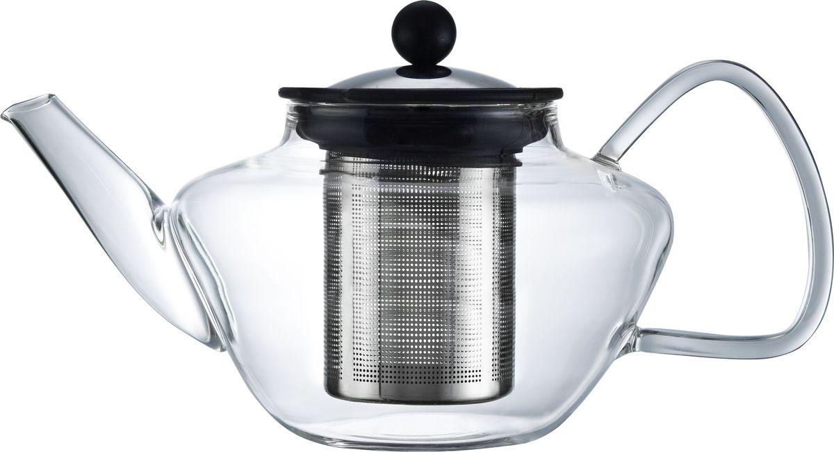 Чайник заварочный Walmer Lord, с фильтром, 1,2 лVT-1520(SR)Заварочный чайник Walmer Lord, изготовленный из термостойкого стекла, предоставит вам все необходимые возможности для успешного заваривания чая. Чай в таком чайнике дольше остается горячим, а полезные и ароматические вещества полностью сохраняются в напитке. Чайник оснащен фильтром и крышкой из углеродистой стали. Сверху на фильтре имеется силиконовая накладка для надежной фиксации.Простой и удобный чайник поможет вам приготовить крепкий, ароматный чай.Нельзя мыть в посудомоечной машине. Не использовать в микроволновой печи.Диаметр чайника (по верхнему краю): 9 см.Высота чайника (без учета крышки): 12,5 см.Высота фильтра: 11 см.