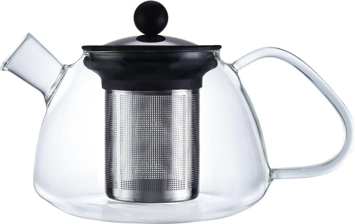 Чайник заварочный Walmer Boss, с фильтром, 1,2 л93-PRO-18-01Заварочный чайник Walmer Boss, изготовленный из термостойкого стекла, предоставит вам все необходимые возможности для успешного заваривания чая. Чай в таком чайнике дольше остается горячим, а полезные и ароматические вещества полностью сохраняются в напитке. Чайник оснащен фильтром и крышкой из углеродистой стали. Сверху на фильтре имеется силиконовая накладка для надежной фиксации.Простой и удобный чайник поможет вам приготовить крепкий, ароматный чай.Нельзя мыть в посудомоечной машине. Не использовать в микроволновой печи.Диаметр чайника (по верхнему краю): 9 см.Высота чайника (без учета крышки): 12,5 см.Высота фильтра: 11 см.