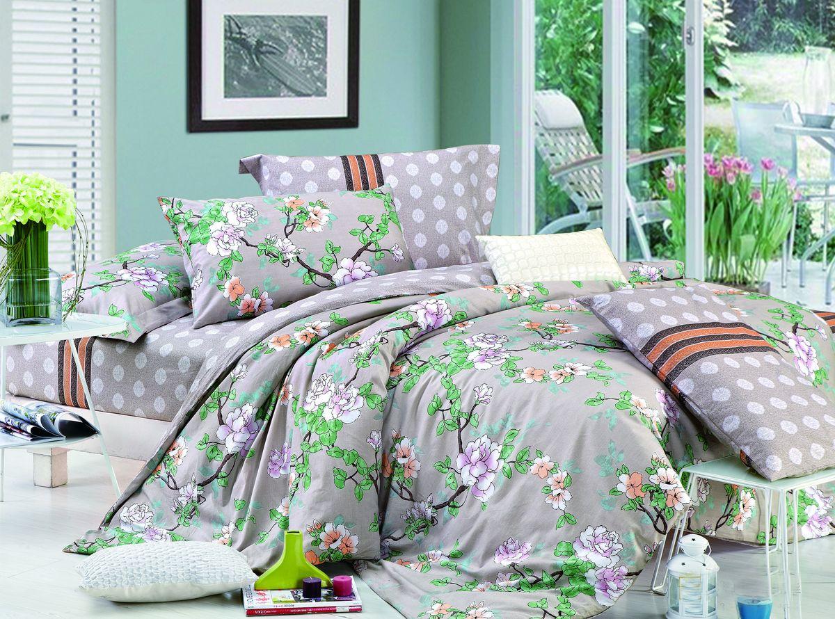 Комплект белья Amore Mio ZHG Shanti, 1,5-спальное. 62809391602Amore Mio – Комфорт и Уют - Каждый день! Amore Mio предлагает оценить соотношению цены и качества коллекции.Разнообразие ярких и современных дизайнов прослужат не один год и всегда будут радовать Вас и Ваших близких сочностью красок и красивым рисунком. Что такое Satin/Сатин.-это ткань сатинового (атласного) переплетения нитей. Имеет гладкую, шелковистую лицевую поверхность, на которой преобладают уточные нити (уток – горизонтально расположенные в тканом полотне нити). Сатин изготавливается из крученой хлопковой нити двойного плетения. Он чрезвычайно приятен на ощупь, не электризуется и не скользит по кровати. Сатин прекрасно сохраняет форму и не мнется, отлично пропускает воздух, что позволяет телу дышать и дарит здоровый и комфортный сон. Пододеяльник-150*215, Простыня-150*225, наволочки-70*70(2шт)