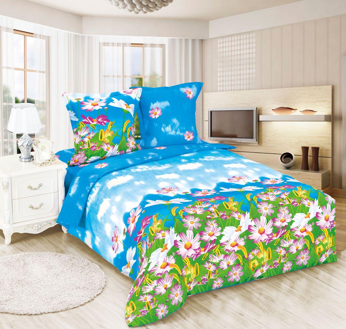 Комплект белья Amore Mio ET Radost, 1,5-спальное. 7006070060Amore Mio – Комфорт и Уют - Каждый день! Amore Mio предлагает оценить соотношению цены и качества коллекции.Разнообразие ярких и современных дизайнов прослужат не один год и всегда будут радовать Вас и Ваших близких сочностью красок и красивым рисунком. Белье Amore Mio – лучший подарок любимым! Поплин – европейский аналог бязи. Это ткань самого простого полотняного плетения с чуть заметным рубчиком, который появляется из-за использования нитей разной толщины. Состоит из 100% натурального хлопка, поэтому хорошо удерживает тепло, впитывает влагу и позволяет телу дышать. На ощупь поплин мягче бязи, но грубее сатина. Благодаря использованию современных методов окраски, не линяет и его можно стирать при температуре до 40°C. Пододеяльник-150*215, Простыня-150*220, наволочки-70*70(1шт)