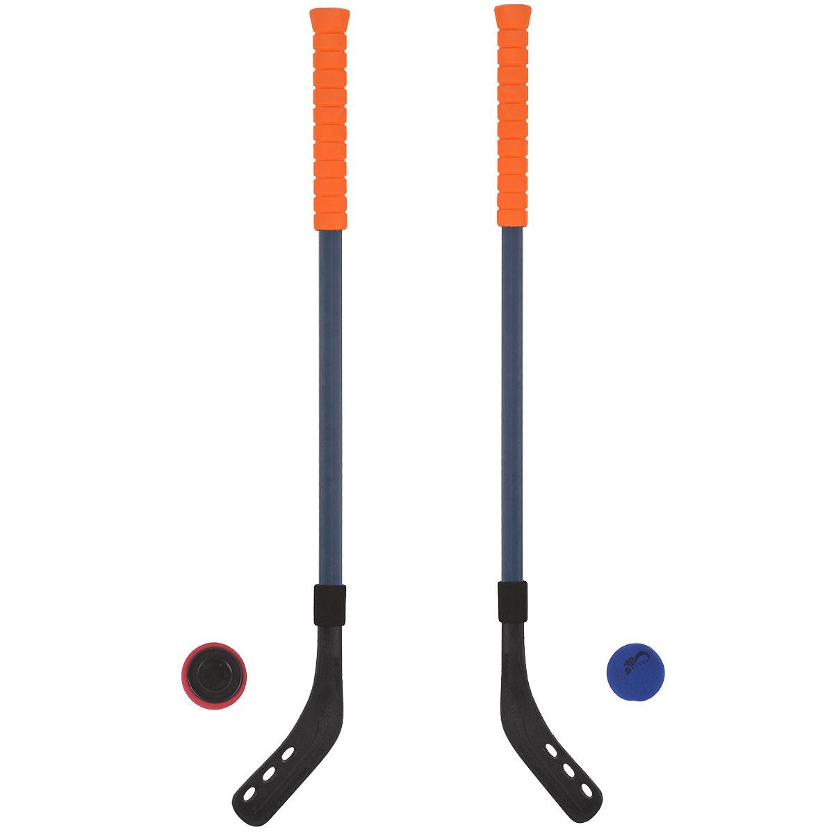 """Набор для игры в хоккей Safsof """"Hockey Set"""" будет полезным подарком для любителей подвижных игр и активного отдыха. Набор включает в себя две прочные пластиковые клюшки с удобными мягкими ручками, шайбу и мяч из вспененного полимера для игры на льду и корте. Хоккейный набор поможет в приобщении ребенка к спорту, а также доставит много радости и принесет большое количество новых впечатлений. Приобретая набор для игры в хоккей, вы обеспечите малышу весело проведенное время и крепкое здоровье, ведь активные игры на природе очень полезны. Для детей от 3 лет. Уважаемые клиенты! Обращаем ваше внимание на возможные изменения в цветовом дизайне набора, связанные с ассортиментом продукции. Поставка осуществляется в зависимости от наличия на складе."""