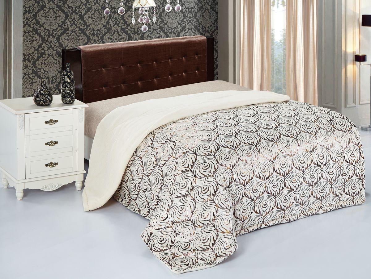 Покрывало Magic Dreams, цвет: молочный, коричневый, 150 см х 200 см. 42455BH-UN0502( R)Покрывало Magic Dreams станет изысканным дополнением интерьера спальни. Покрывало двуслойное, стеганое, оформлено красивым принтом. Верхняя часть изготовлена из флока - материала, который обладает грязеотталкивающими свойствами, поглощает влагу и препятствует образованию пыли. Такой материал очень практичен, на ощупь похож на бархат. Подкладка выполнена из микрофибры: это невероятно мягкий материал высочайшего качества, изготовленный из сложных волокон. На ощупь напоминает велюр. У микрофибры трикотажная основа, что позволяет ей быть очень эластичной и препятствует скольжению покрывала по кровати. Ткань из микрофибры дышащая, устойчива к загрязнениям и пятнам, сохраняет свой высококачественный внешний вид и уникальную мягкость в течение всего срока службы. Magic Dreams - удивительно мягкая, теплая и приятная на ощупь серия покрывал. Они не только согревают, но и создают неповторимый уют в вашей спальне. Мягкий, теплый, приятный на ощупь материал делает покрывало Magic Dreams хорошей заменой пледу.