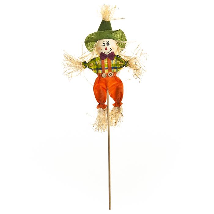 Украшение на ножке Village People Соломенный человечек, цвет: оранжевый, высота 50 см29228Украшение на ножке Village People Соломенный человечек предназначено для отпугивания птиц и декорирования садового участка, грядок, клумб. Изделие представляет собой деревянный стержень с симпатичным соломенным человечком, легко устанавливается в землю. Оно украсит ваш сад и добавит ярких красок. Размер человечка: 15 см х 26 см. Высота: 50 см.