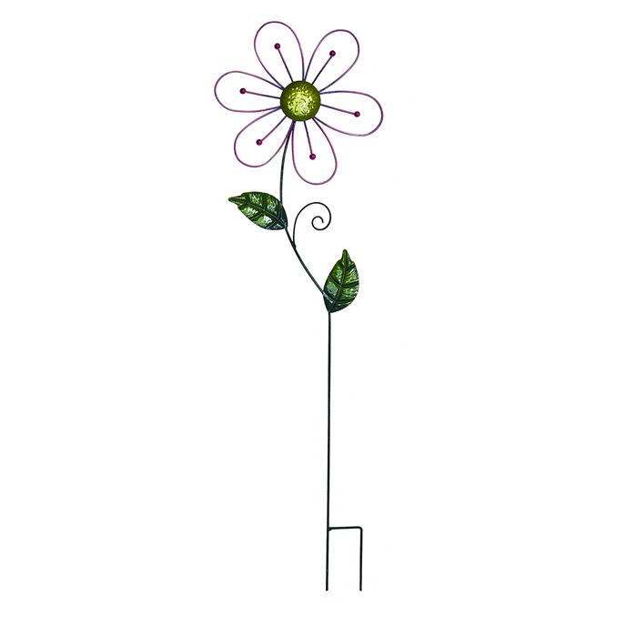 Украшение на ножке Village People Ажурные цветы, цвет: зеленый, высота 82 см.531-304Украшение на ножке Village People Ажурные цветы изготовлено из металла и предназначено для украшения садового участка, грядок, для поддержки и правильного роста декоративных растений. Легко и просто вставляется в землю. Диаметр цветка: 24 см. Высота: 82 см.