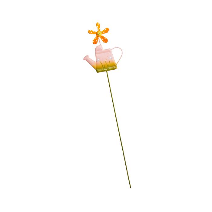 Украшение на ножке Village People Лейка с флюгером, цвет: розовый, высота 27 см1145139Украшение на ножке Village People Лейка с флюгером поможет вам дополнить экстерьер красивой и яркой деталью. Такое украшение очень просто вставляется в землю с помощью длинной ножки, оно отлично переносит любые погодные условия и прослужит долгое время. Идеально подходит для декорирования садового участка, грядок, клумб, домашних цветов в горшках, а также для поддержки и правильного роста декоративных растений.Размер декоративного элемента: 6,5 см х 7,5 см. Высота: 27 см.