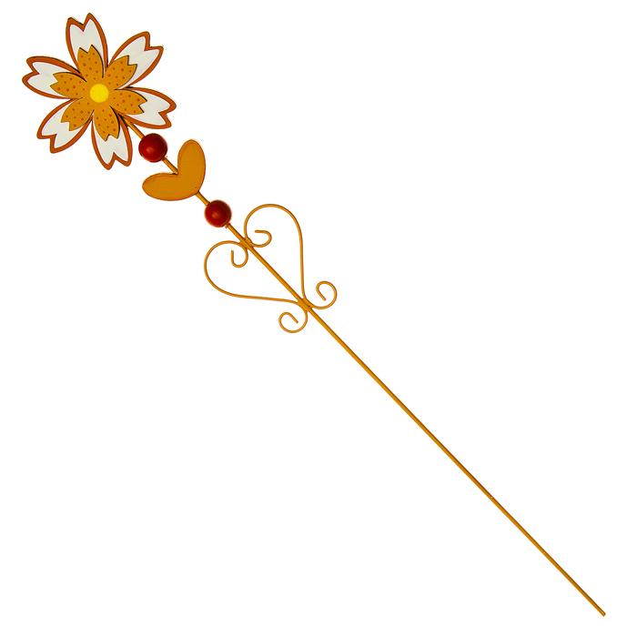Украшение на ножке Village People Цветущая поляна, цвет: оранжевый, высота 56 см8711969016071Украшение на ножке Village People Цветущая поляна поможет вам дополнить экстерьер красивой и яркой деталью. Такое украшение очень просто вставляется в землю с помощью длинной ножки, оно отлично переносит любые погодные условия и прослужит долгое время. Идеально подходит для декорирования садового участка, грядок, клумб, домашних цветов в горшках, а также для поддержки и правильного роста декоративных растений.Диаметр цветка: 9,5 см. Высота: 56 см.