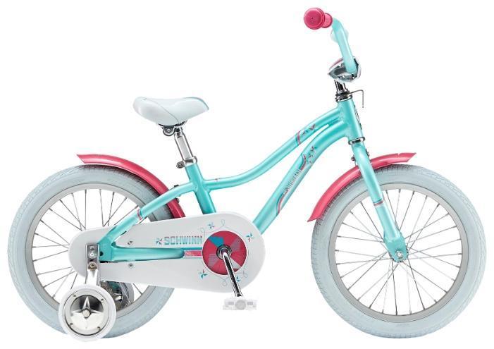 """Schwinn Lil Stardust 2015 года – это детский велосипед начального уровня для девочек, рассчитанный на возраст от 4 до 6 лет. Яркая, красивая и оригинальная модель доступна в двух цветах. Обладая такими визуальными достоинствами, велосипед остается комфортным и безопасным в использовании. Ребенку будет очень удобно и просто на нем кататься, ведь он оборудован ножным тормозом и не имеет переключения передач. Бренд Schwinn – это качество! Lil Stardust обязательно понравится вам и вашему ребенку! Вилка: Schwinn Седло: Schwinn Sidewalk Kids Цепь: KMC Z410 Спицы: Stainless 14g Задняя втулка: Schwinn Задняя покрышка: Schwinn Передняя покрышка: Schwinn Размер рамы: 16.0"""""""