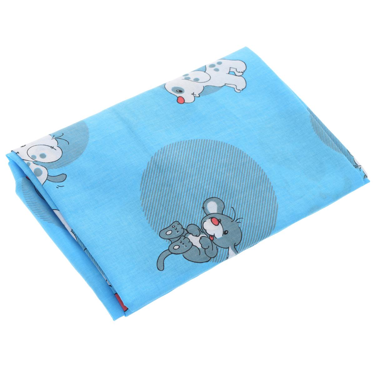 Простыня на резинке Фея Наши друзья, цвет: голубой, 60 см х 120 смОБТ-120Мягкая простыня на резинке Фея Наши друзья идеально подойдет для кроватки вашего малыша и обеспечит ему здоровый сон. Она изготовлена из натурального 100% хлопка, дарящего малышу непревзойденную мягкость. Простыня с помощью специальной резинки растягивается на матрасе. Она не сомнется и не скомкается, как бы не вертелся ребенок. Подарите вашему малышу комфорт и удобство!