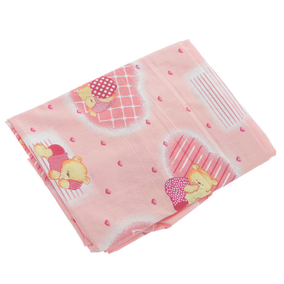 Простыня на резинке Фея Мишки, цвет: розовый, 60 см х 120 смПРТ18 розовыйМягкая простыня на резинке Фея Мишки идеально подойдет для кроватки вашего малыша и обеспечит ему здоровый сон. Она изготовлена из натурального 100% хлопка, дарящего малышу непревзойденную мягкость. Простыня с помощью специальной резинки растягивается на матрасе. Она не сомнется и не скомкается, как бы не вертелся ребенок. Подарите вашему малышу комфорт и удобство!