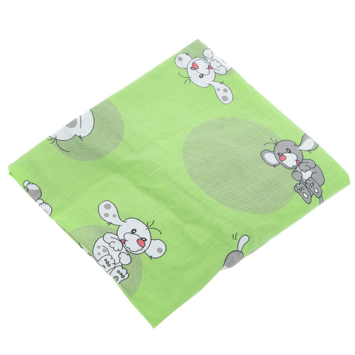 Простыня на резинке Фея Наши друзья, цвет: зеленый, 60 см х 120 смА00319Мягкая простыня на резинке Фея Наши друзья идеально подойдет для кроватки вашего малыша и обеспечит ему здоровый сон. Она изготовлена из натурального 100% хлопка, дарящего малышу непревзойденную мягкость. Простыня с помощью специальной резинки растягивается на матрасе. Она не сомнется и не скомкается, как бы не вертелся ребенок. Подарите вашему малышу комфорт и удобство!