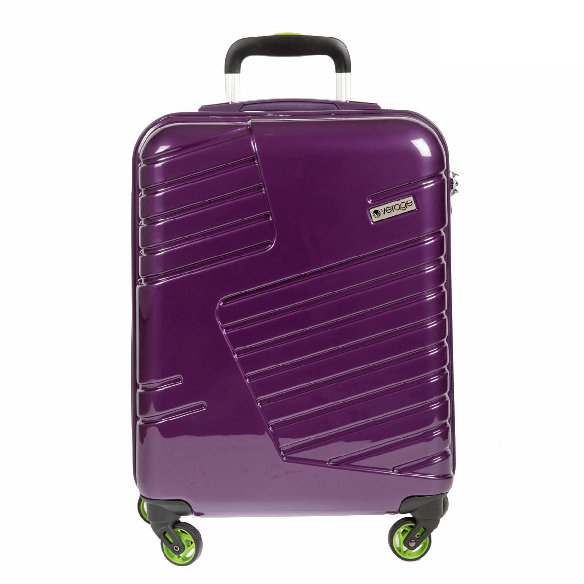 Чемодан-тележка Verage, цвет: фиолетовый, 31 л. GM14042w 20ГризлиЧемодан-тележка Verage оснащен четырьмя колесиками, вращающимися на 360°. Закрывается по периметру на двухстороннюю молнию. Верхняя и боковая ручки обеспечивают удобство транспортировки. Внутри два отдела для одежды, которые фиксируются эластичными резинками на застежках. Также внутри расположен один сетчатый карман на застежке-молнии. Встроенный кодовый замок с функцией TSA. Чемодан оснащен выдвижной ручкой, максимальная высота которой 57 см.