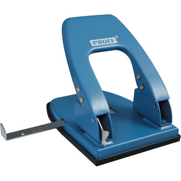 Дырокол большой Proff Punch, с линейкой, на 30 листов, цвет: синийFS-00897Удобный и практичный дырокол Proff Punch- незаменимый офисный инструмент. Стильный эргономичный дизайн создаст приятное настроение на рабочем столе. Дырокол в надежном металлическом корпусе предназначен для одновременной перфорации до 30 листов бумаги. Стальные рабочие поверхности обеспечивают долгий срок его эксплуатации. Удобство обеспечивает нескользящее основание и съемный резервуар для обрезков бумаги. Для выравнивания листов предусмотрена выдвижная линейка.