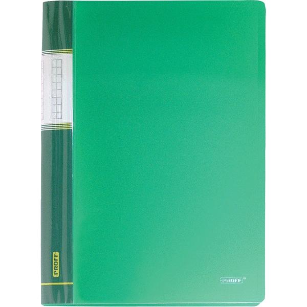 Папка Proff Next, на 30 файлов, цвет: зеленый. Формат А4AC-1121RDПапка с файлами Proff Next - это удобный и практичный офисный инструмент,предназначенный для хранения и транспортировки рабочих бумаг и документовформата А4. Обложка выполнена из плотного полипропилена. Папка включает в себя 30 прозрачных файлов формата А4. Папка с файлами - это незаменимый атрибут для студента, школьника,офисного работника. Такая папка надежно сохранит ваши документы и сбережетих от повреждений, пыли и влаги.