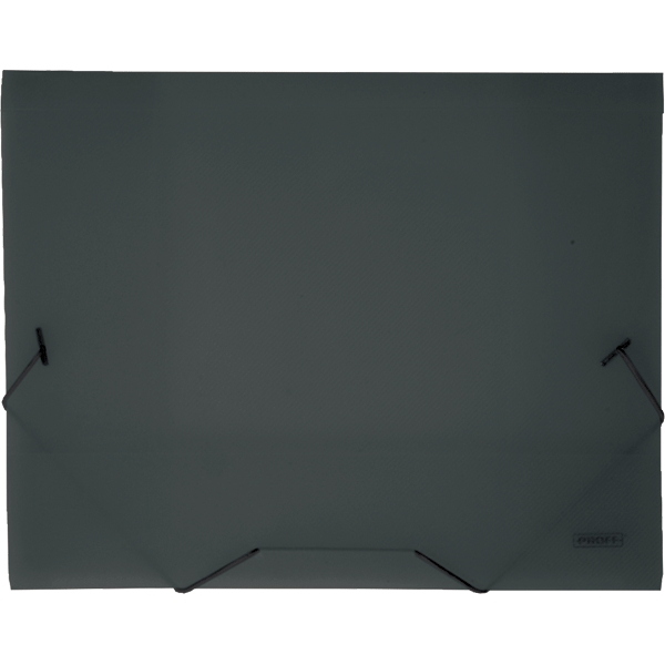 Папка на резинке Proff Next, ширина корешка 20 мм, цвет: темно-серый. Формат А480028Папка на резинке Proff Next - это удобный и функциональный офисный инструмент, предназначенный для хранения и транспортировки рабочих бумаг и документов формата А4.Папка изготовлена из износостойкого высококачественного полипропилена. Внутри папка имеет три клапана, что обеспечивает надежную фиксацию бумаг и документов. Папка - это незаменимый атрибут для студента, школьника, офисного работника. Такая папка надежно сохранит ваши документы и сбережет их от повреждений, пыли и влаги.