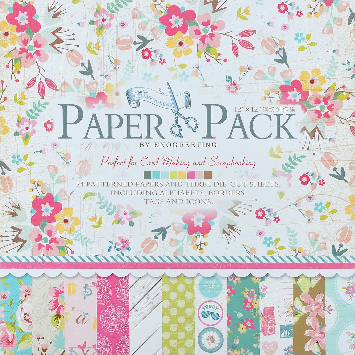 Набор бумаги для скрапбукинга Цветущее лето, 30,5 х 30,5 см, 27 листов55052Набор бумаги для скрапбукинга Цветущее лето позволит создать красивый альбом, фоторамку или открытку ручной работы, оформить подарок или аппликацию. Набор включает в себя 3 листа с различными вырубленными буквами, уголочками, надписями из плотной бумаги с односторонней печатью и 24 листа плотной бумаги с односторонней печатью, декорированных рисунком с различным дизайном (по 2 листа каждого дизайна). Скрапбукинг - это хобби, которое способно приносить массу приятных эмоций не только человеку, который этим занимается, но и его близким, друзьям, родным. Это невероятно увлекательное занятие, которое поможет вам сохранить наиболее памятные и яркие моменты вашей жизни, а также интересно оформить интерьер дома. Количество листов: 27 шт. Размер листа: 30,5 см х 30,5 см.