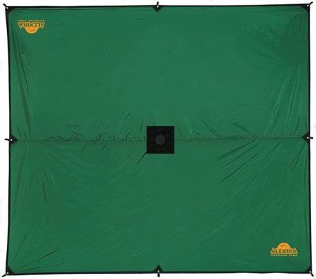 Тент Alexika Awning, цвет, зеленый, 500 cм х 400 cм9180.5401Тент Alexika Awning - отличный вариант для хранения вещей, защиты от дождя и солнца и организации летней столовой. Середина тента усилена квадратом ткани для установки подпорки в центре, с другой стороны усиливающего квадрата вшита оттяжка для подвешивания центра тента на растяжках.Углы тента усилены вставками из прочной ткани, обшиты стропой, люверс запрессован в стропу, что значительно повышает прочность конструкции при натяжении тента. Материал тента устойчив к воздействию ультрафиолета.
