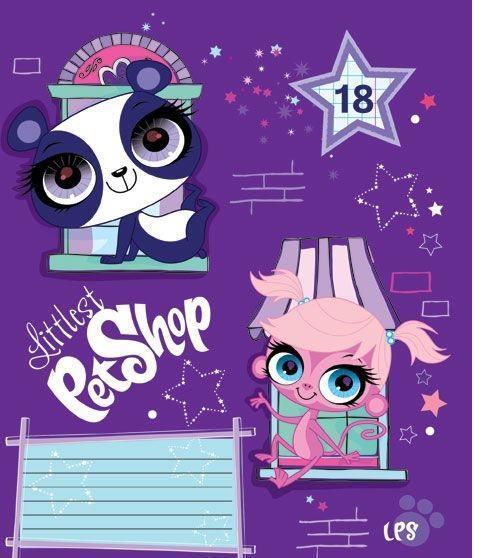 Littlest Pet Shop Набор тетрадей в линейку, 18 листов, формат А5, 10 шт, цвет: фиолетовый125059