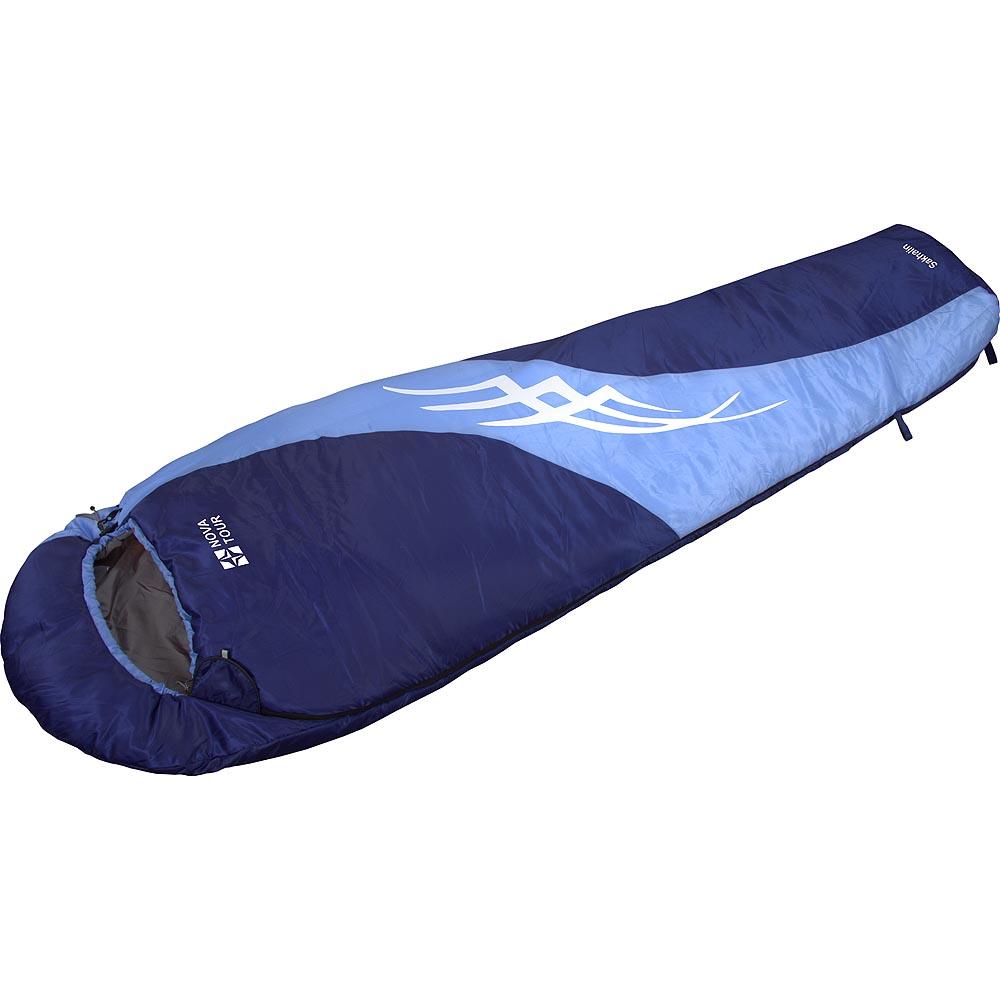 Спальный мешок NOVA TOUR  Сахалин , правосторонняя молния, цвет: синий, голубой - Спальные мешки