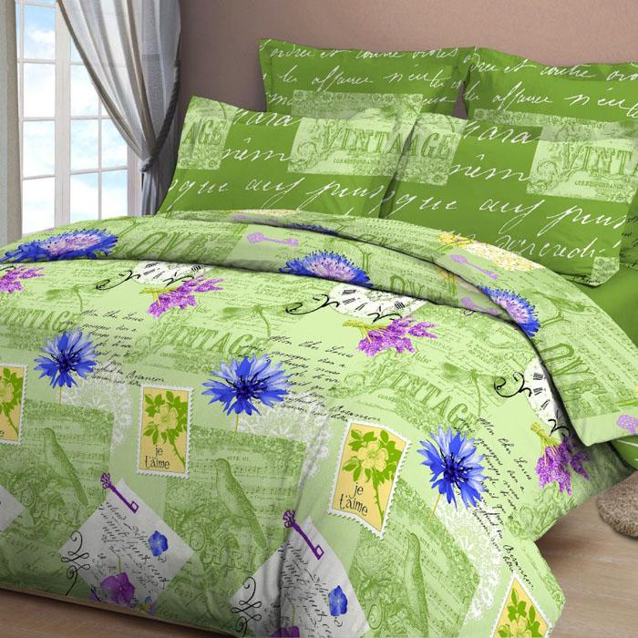 Комплект белья Letto, 1,5-спальный, наволочки 70х70, цвет: зеленый. B28-3391602Серия «Традиция» от Letto – это возможность купить оптом недорогое постельное белье, выполненной из классической российской бязи, знакомой многим домохозяйка. Не смотря на то, что на смену бязи пришли более комфортные ткани для постельного белья, такие как сатин и перкаль, бязь продолжает оставаться одним из самых востребованных продуктов на текстильном рынке России, благодаря своим потребительским свойствам и доступной цене. Для производства серии «Традиция» используется российская бязь, плотностью 125гр/м, с применением устойчивых импортных красителей и печати с новомодным эффектом 3D. Коллекция отшивается в традиционных размерах 1.5-cп, 2,0–сп. и евро размере с нав-ками 70*70.