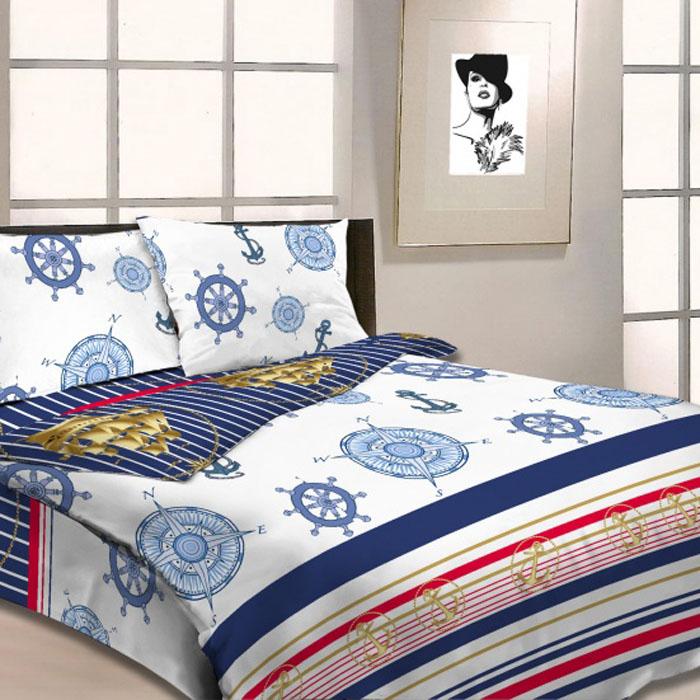 Комплект белья Letto, 1,5-спальный, наволочки 70х70, цвет: голубой. B19-3 комплект белья letto семейный наволочки 70х70 цвет голубой синий b183 7