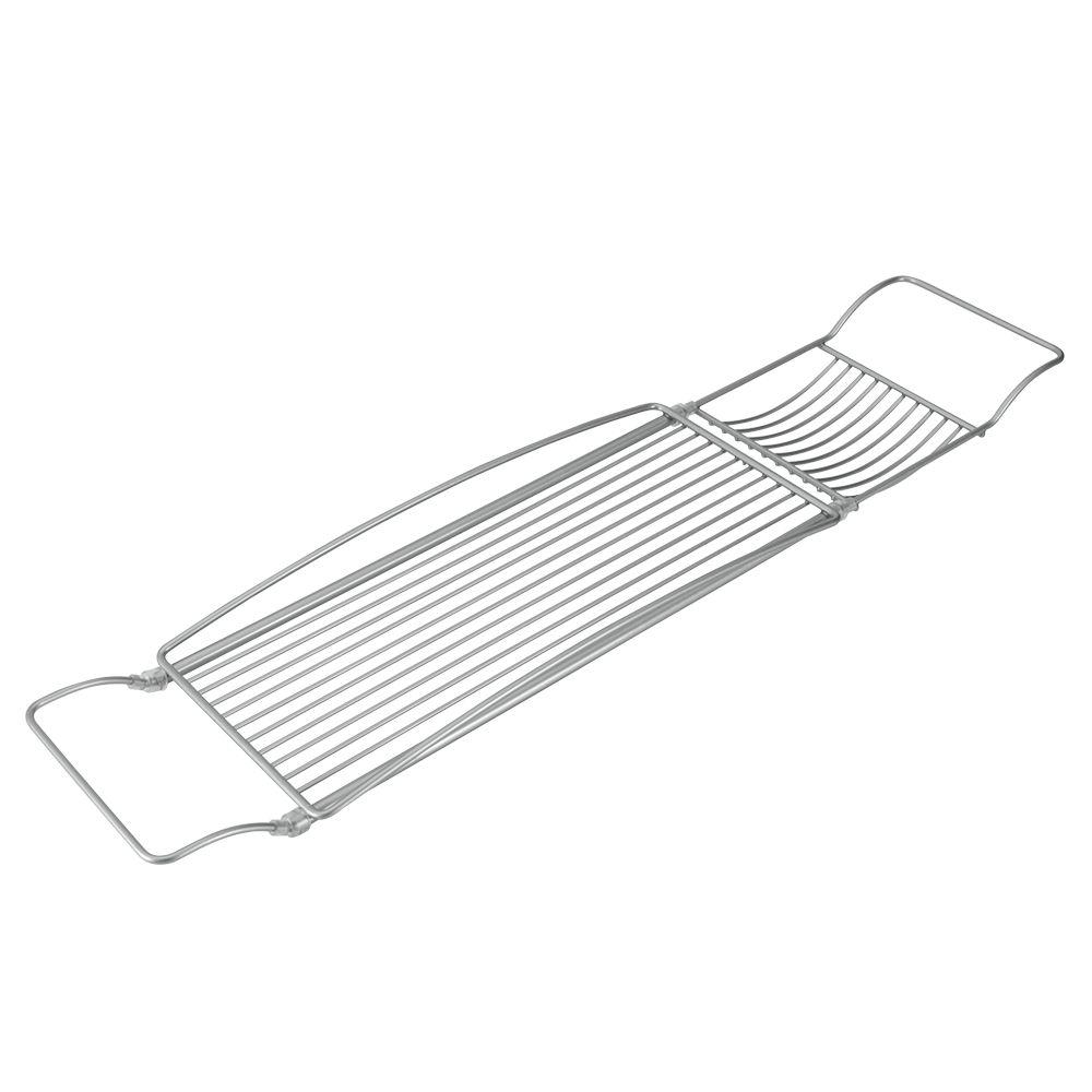 Полка на ванну Metaltex Reflex, раздвижная, 2 отделения391602Навесная полка Metaltex Reflex, выполненная из стали c уникальным политермическим покрытием Polytherm, предназначена для ванны. Покрытие Polytherm значительно продлевает срок службы изделий, это покрытие ударопрочное, на нем не образуются царапины и ржавчина. Полка имеет 2 отделения разного размера. Подвешивается на борта ванны. Длину полки можно регулировать. Такая полка пригодится для хранения различных принадлежностей, которые всегда будут под рукой. Размер полки: 66-85 см х 15,5 см х 5 х см. Размер большого отделения: 38,5 см х 15,5 см х 3,5 см. Размер малого отделения: 12 см х 15,5 см х 1,5 см.
