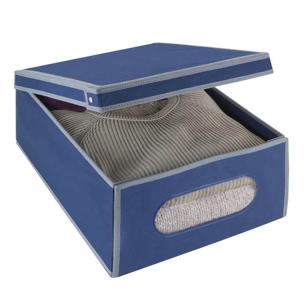 Короб для хранения Metaltex Airy, цвет: синий, 48 х 36 х 19 см3301Удобный футляр для хранения Metaltex Airy прямоугольной формы, выполнен из прочного нетканого материала. Такой футляр отлично защитит ваши вещи от загрязнений, моли, пыли, влаги и поможет надолго сохранить их безупречный вид во время хранения и транспортировки. Размер: 48 см х 36 см х 19 см.