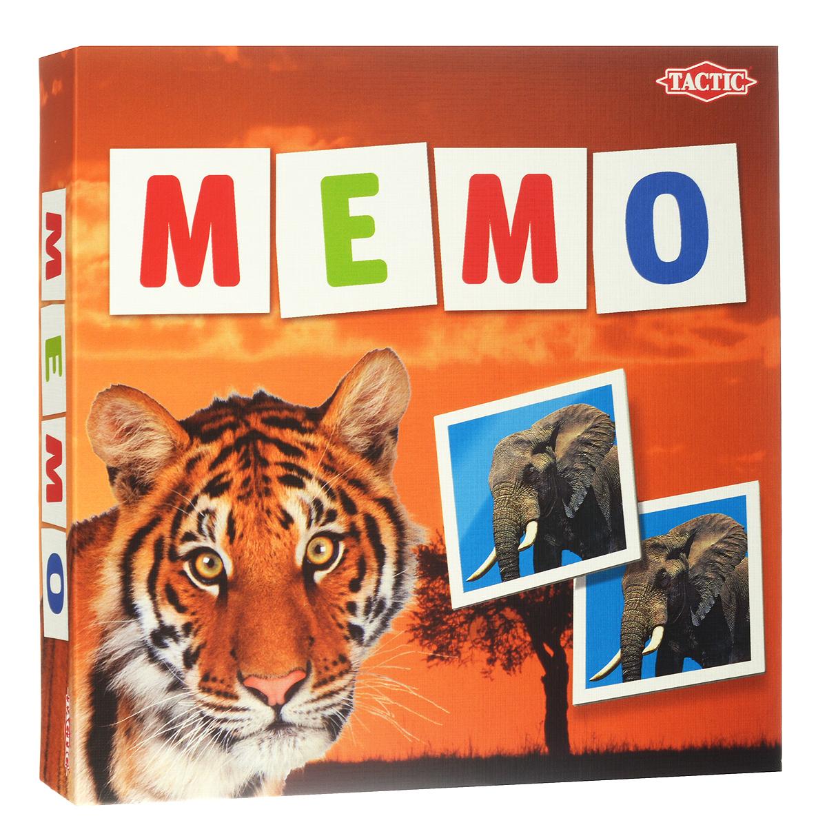 Tactic Games Мемо Дикие животные  настольная игра tactic games дикие животные мира игра с карточками