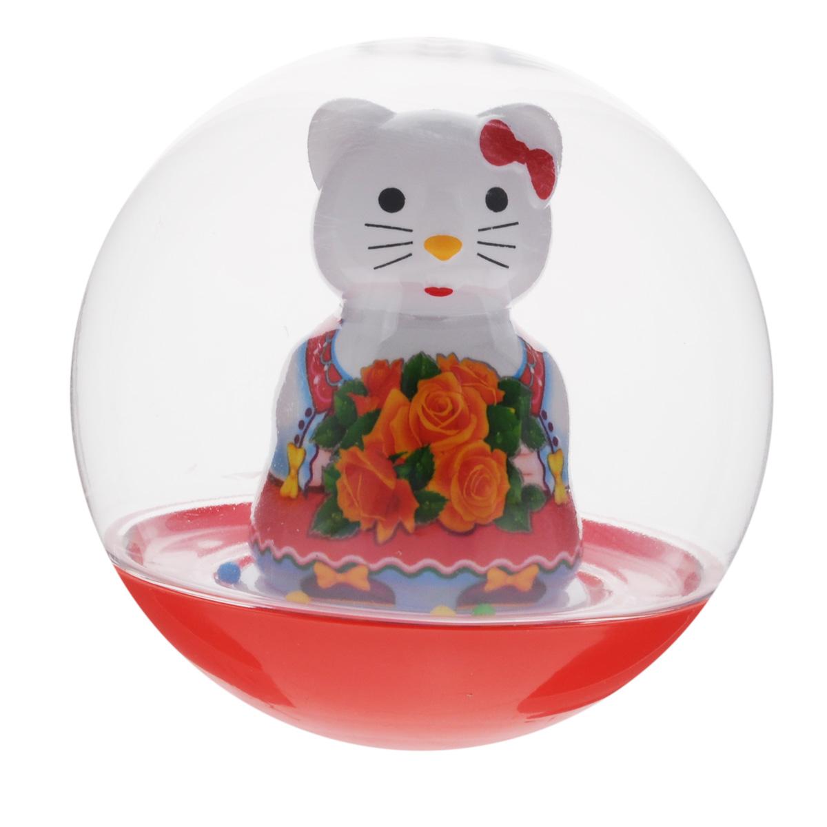 Stellar Погремушка-неваляшка Кошечка цвет красный stellar погремушка неваляшка мишка с розой цвет красный желтый