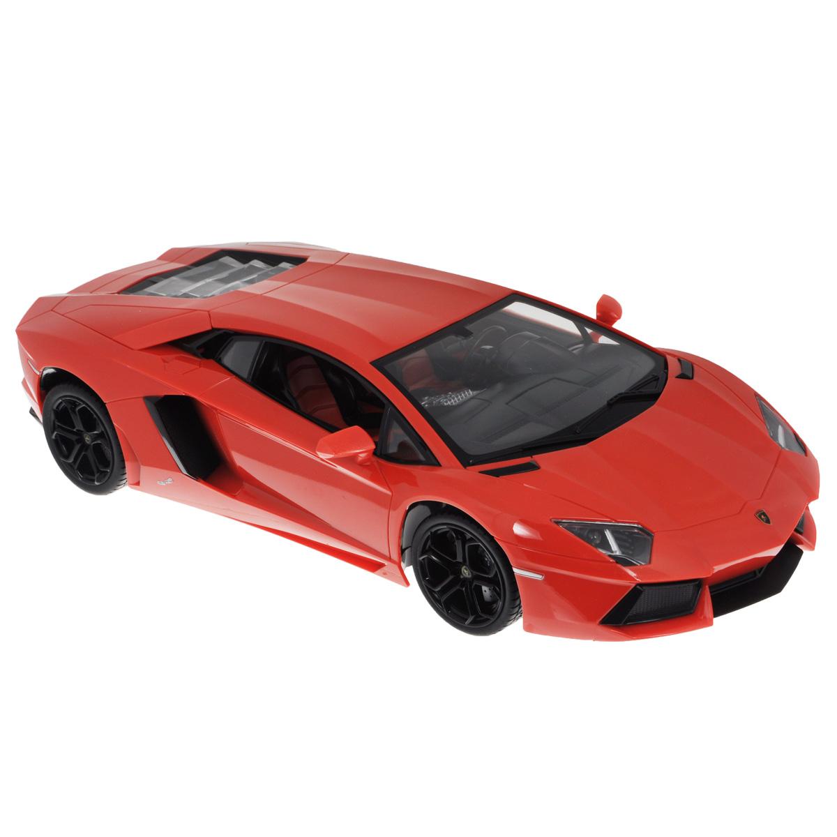 """Все мальчишки любят мощные крутые тачки! Особенно если это дорогие машины известной марки, которые, проезжая по улице, обращают на себя восторженные взгляды пешеходов. Радиоуправляемая модель TopGear """"Lamborghini 700"""" - это детальная копия существующего автомобиля в масштабе 1:14. Машинка изготовлена из прочного легкого пластика; колеса прорезинены. При движении передние и задние фары машины светятся. При помощи пульта управления автомобиль может перемещаться вперед, дает задний ход, поворачивает влево и вправо, останавливается. Встроенные амортизаторы обеспечивают комфортное движение.В комплект входят машинка, пульт управления, зарядное устройство (время зарядки составляет 4-5 часов), аккумулятор и 2 батарейки.Автомобиль отличается потрясающей маневренностью и динамикой. Ваш ребенок часами будет играть с моделью, устраивая захватывающие гонки.  Машина работает от аккумулятора напряжением 6V DC (входит в комплект). Пульт управления работает от 2 батареек напряжением 1,5V типа АА (входят в комплект)."""