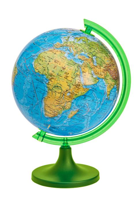 Глобус DMB, c физической картой мира, диаметр 11 см + Мини-энциклопедия Физическая география Земли20-0640, PGL3150Физический глобус DMB, изготовленный из высококачественного прочного пластика, показывает географические особенности нашей планеты Земля: горы, леса, пустыни, долины. Изделие расположено на подставке. На нем отображены картографические линии: параллели и меридианы, линия перемены дат, особенности климата и растительности, рельефы морского дна и суши. Глобус с физической картой мира станет незаменимым атрибутом обучения не только школьника, но и студента. Названия стран на глобусе приведены нарусском языке. Ничто так не обеспечивает всестороннего и детальногоизучения устройства мира в таком сжатом и объемном образе,как физический глобус. Сделайте первый шаг в стимулирование своегообучения! К глобусу прилагается мини-энциклопедия Физическая география Земли с кратким описанием важных географических объектов. Настольный глобус DMB станет оригинальным украшением рабочегостола или вашего кабинета. Это изысканная вещь для стильного интерьера,которая станет прекрасным подарком для современного преуспевающегочеловека, следующего последним тенденциям моды и стремящегося кэлегантности и комфорту в каждой детали.Высота глобуса с подставкой: 17 см.Диаметр глобуса: 11 см.Масштаб: 1:115 000 000.