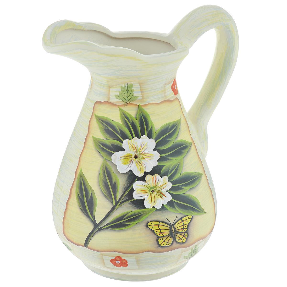 Ваза Lillo Цветы, высота 26 см920/80410/0/55809/245-109Элегантная ваза Lillo Цветы выполнена из высококачественной керамики в виде кувшина и декорирована рисунком и рельефом. Она придется по вкусу и ценителям классики, и тем, кто предпочитает утонченность и изящность. Вы можете поставить вазу в любом месте, где она будет удачно смотреться и радовать глаз. Такая ваза подойдет и для цветов, и для декора интерьера. Кроме того - это отличный вариант подарка для ваших близких и друзей. Высота вазы: 26 см.
