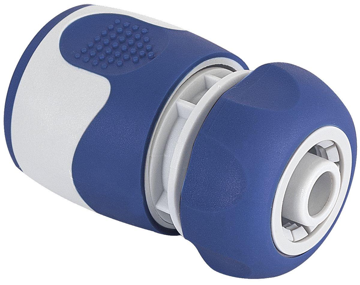 Коннектор Green Apple, для шланга 1/2, цвет: серый, синийGWHC20-057Универсальный коннектор Green Apple предназначен для надежного подключения насадок к шлангу. Коннектор совместим со всеми стандартными шлангами диаметром 1/2 (12 мм). Изготовлен из пластика.Длина коннектора: 6 см.