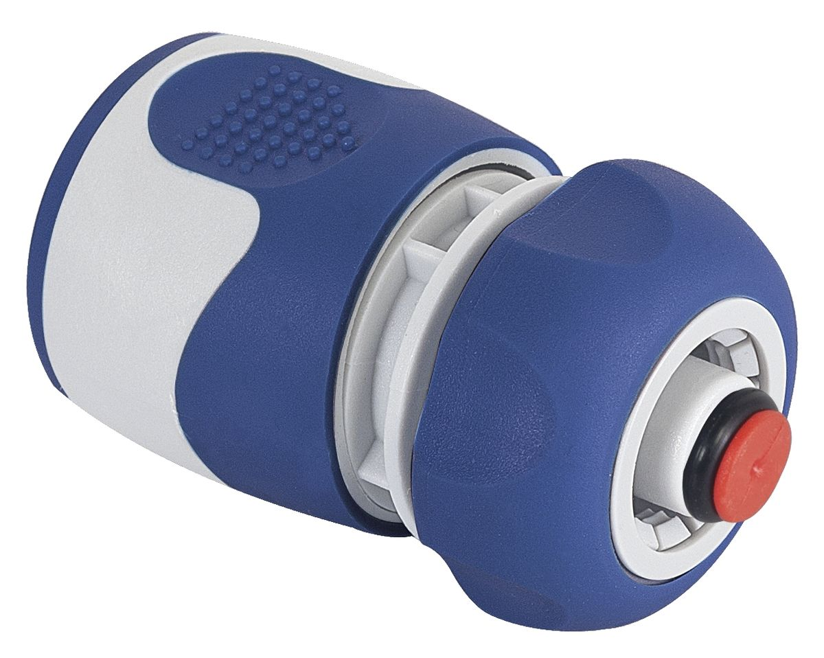 Коннектор Green Apple, с аквастопом, диаметр 1/2HHY 960AКоннектор Green Apple, изготовленный из полипропилена, терморезины и ABS пластика, предназначен для надежного подключения насадок к шлангу. Благодаря функции аквастоп замену насадок можно производить без предварительного отключения напора воды.Длина коннектора: 7 см.