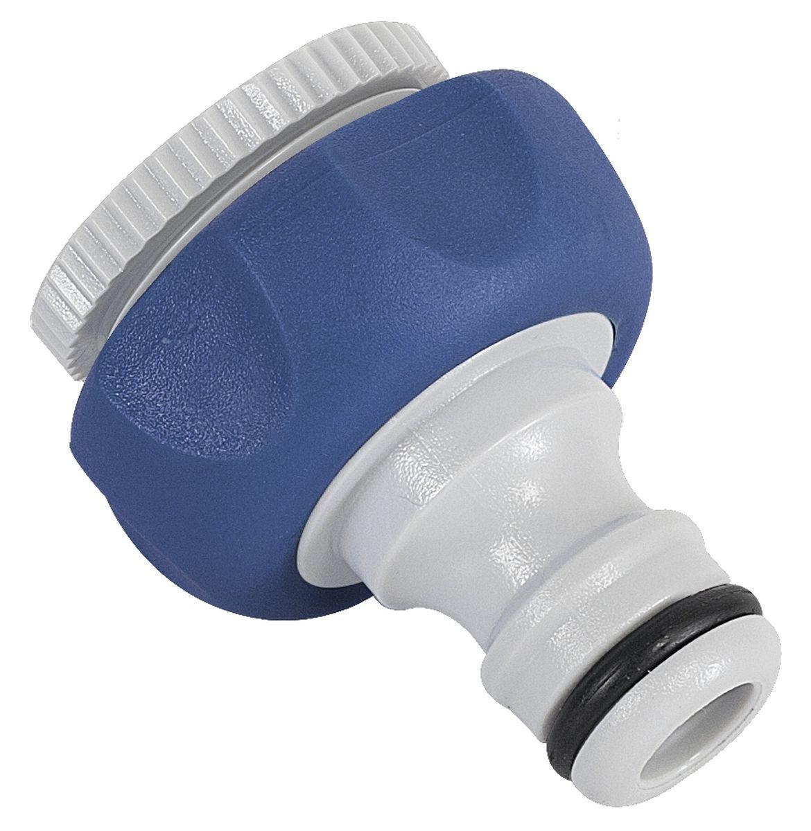 Штуцер резьбовой Green Apple, с переходником, диаметр 12 мм - 19 мм106-026Резьбовой штуцер Green Apple изготовлен из высококачественного прочного пластика и термопластичной резины. Штуцер предназначен для соединения шлангов и насадок с кранами, имеющими внешнюю резьбу. В комплекте - дополнительный переходник.Диаметр: 1/2, 3/4.
