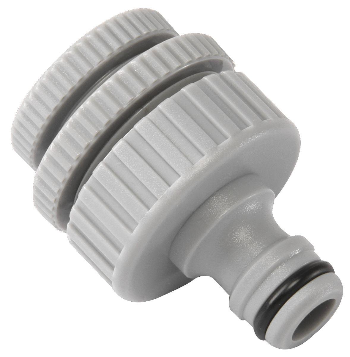 Штуцер резьбовой Green Apple, с переходниками, диаметр 12 мм - 19 мм - 25 мм106-026Резьбовой штуцер Green Apple изготовлен из высококачественного прочного ABS-пластика. Штуцер предназначен для соединения шлангов и насадок с кранами, имеющими внешнюю резьбу. В комплекте - 2 переходника разного диаметра.Диаметр: 1/2, 3/4, 1.