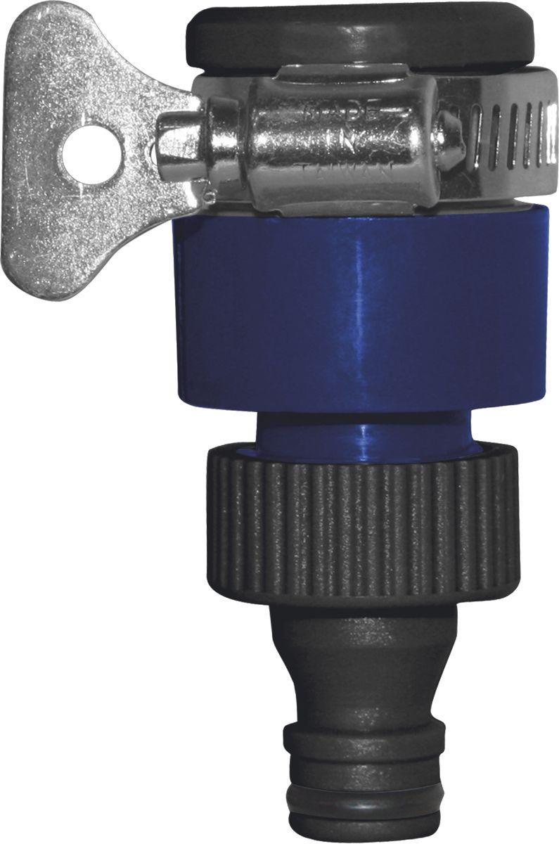 Адаптер для безрезьбовых кранов Green AppleGWTC216-026Адаптер Green Apple предназначен для соединения безрезьбовых кранов (до 18 мм) с насадками, в которых нет возможности регулировать напор, а так же дает возможность отключать воду без перекрывания основного крана.Длина адаптера: 8,5 см.