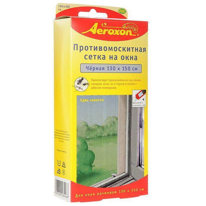 Противомоскитная сетка  Aeroxon , цвет: черный, 130 х 150 см - Защита от вредителей