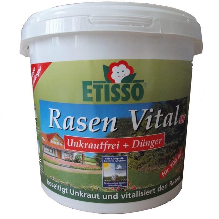Средство Etisso Rasen Vital UF для цветов и газонов, 3 кгK100Азотно-фосфорно-калийное удобрение пролонгированного действия специально разработано для основного, припосевного внесения и подкормок цветочно-декоративных растений в комнате и зимних садах, на балконе и даче, газонов. Выделение элементов питания пролонгировано, что позволяет обеспечить питание растений в течение 6-8 недель. Удобрение необходимо для полноценного роста и развития растений.Комплексное гранулированное удобрение наполнит ваш газон всеми необходимыми питательными веществами и микроэлементами в течение 100 дней и уничтожит сорняки. Etisso Rasen Vital UF высокоэффективное и быстродействующее удобрение с направленным и надежным действием против наносящих вред газону сорняков. Быстрый успех достигается за счет двухкомпонентного действия через листья и корни. Средство идеально сочетает в себе снабжение вашего газона всеми необходимыми питательными веществами и микроэлементами и защиту от имеющихся сорняков в течение 2-3 месяцев. Результатом чего является здоровый зеленый газон, который в будущем успешно противостоит нашествию сорняков. Благодаря контролю роста, нет необходимости в частой стрижке газона и опасности повредить его. Действует против следующих сорняков: лапчатка, маргаритки, лютик, клевер, львиный зев, подорожник, щавель, некоторые виды вероники, пастушья сумка, ромашка, лопух, кормовая свекла, лебеда, птичья мира.Менее действенен против ясколки, дубровки.Недостаточно действенен против бурды, тысячелистника и не травяных.Характеристики:Массовая доля питательных веществ:азот (общий) - 15%, фосфор водорастворимый (P2O5) - 9%, калий водорастворимый (K2O) - 15%, магний (MgO) - 2%, микроэлементы (железо, медь, марганец, цинк, бор). Класс опасности:3 (умеренно опасное вещество). Вес:3 кг. Артикул:1286-034.