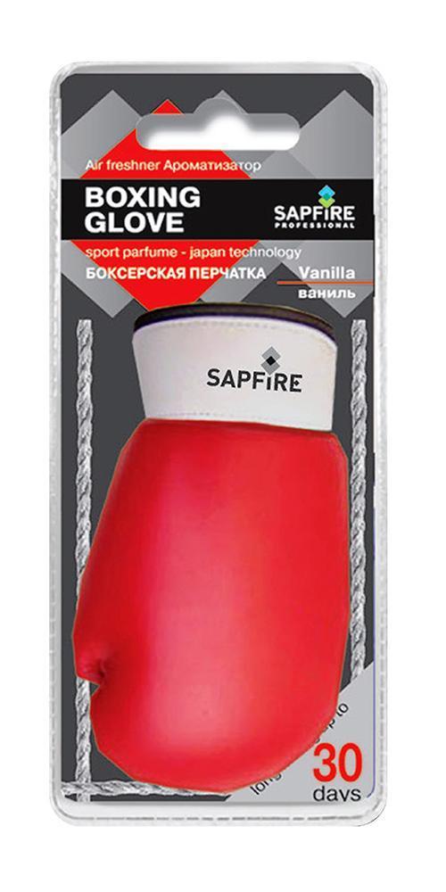 Ароматизатор для салона автомобиля Sapfire Boxing Glove, ванильTB 08Подвесной ароматизатор для салона автомобиля Sapfire Boxing Glove имеет приятный аромат ванили. Ароматизатор, выполненный из искусственной кожи в виде борцовской перчатки, предназначен для автомобиля, а также для небольших помещений. Аромат держится до 30 дней. Boxing Glove - новое поколение концентрированных ароматизаторов. Парфюмерная композиция произведена в Японии. Обеспечивает стойкий насыщенный аромат и стойкий запах.Состав: искусственная кожа, гранулы, парфюмерная композиция высокой концентрации, стабилизатор. Размер ароматизатора: 10 см х 5 см х 4 см.