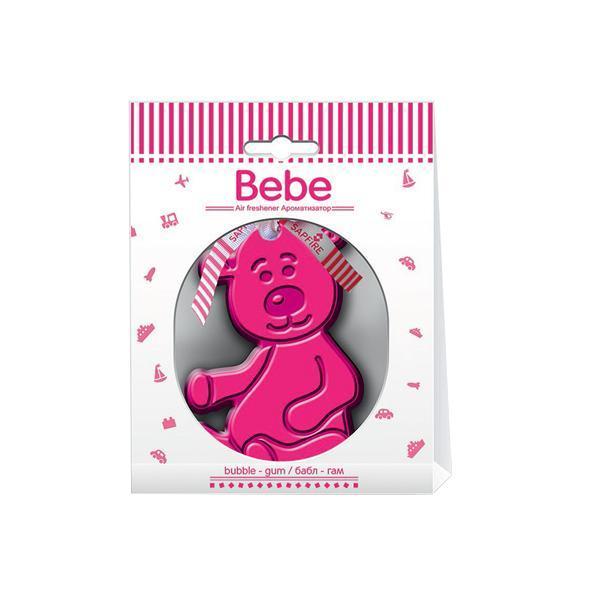 Ароматизатор Sapfire Bebe, мишка бабл гамC05Подвесной ароматизатор для салона автомобиля Sapfire Bebe имеет приятный аромат. Ароматизатор представляет собой забавную игрушку, пропитанную парфюмерной композицией.