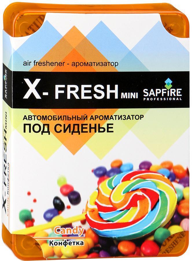 "Ароматизатор под сиденье автомобиля Sapfire ""X-Fresh Mini"", конфетка"