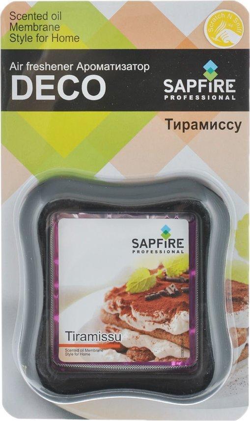 Ароматизатор в дефлектор Sapfire Deco, тирамиссуRC-100BPCАвтомобильный и домашний декоративный освежитель воздуха Sapfire Deco имеет приятный аромат тирамиссу. Ароматизатор, изготовленный с использованием современной мембранной технологии, - это безопасно, удобно и гарантирует длительную работу, без риска пролить жидкое содержимое. Крепится ароматизатор на стену в комнате или на дефлектор в автомобиле. Состав: парфюмерная композиция, гель, пластик, алюминиевая фольга. Размер ароматизатора: 8 см х 8,5 см х 2 см.