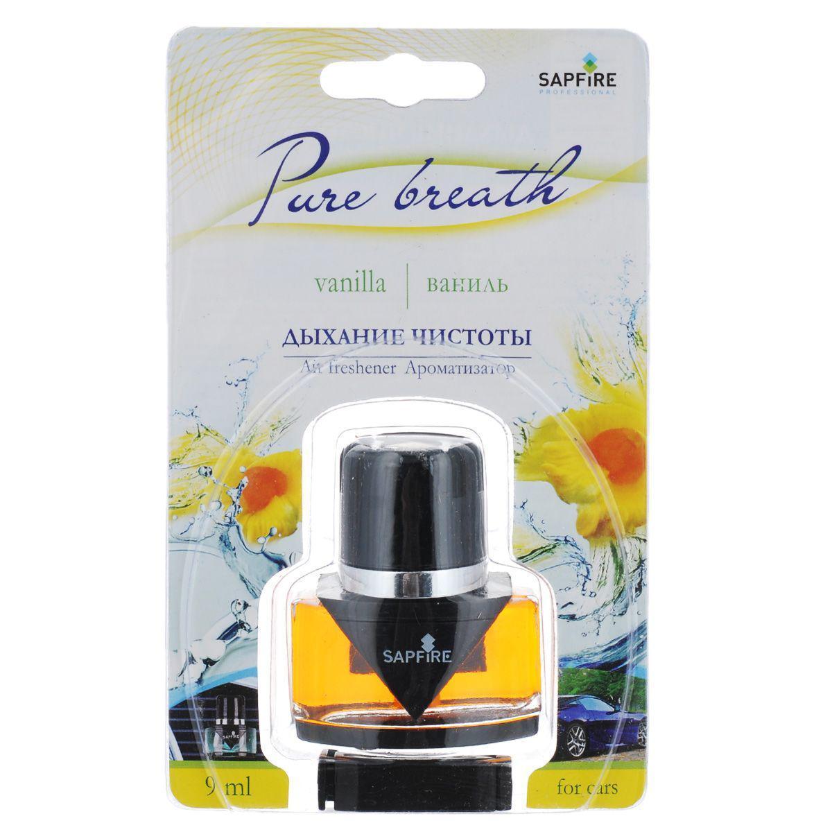 Ароматизатор в дефлектор Sapfire Pure Breath, ваниль дефлектор автомобильный
